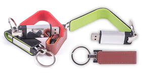 PU Leather USB flash drive
